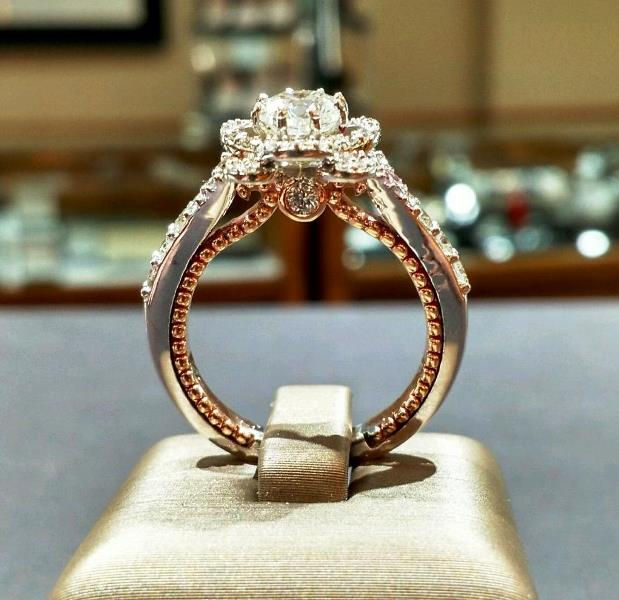 Custom Rose Gold Engagement Ring