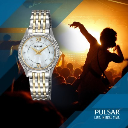 Swarovski Crystal and Mother of Pearl Ladies' Watch