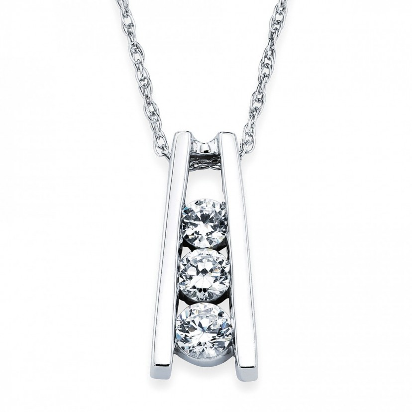 3 stone diamond pendant jewelry diamond jewelry chilson jewelers 3 stone diamond pendant aloadofball Gallery