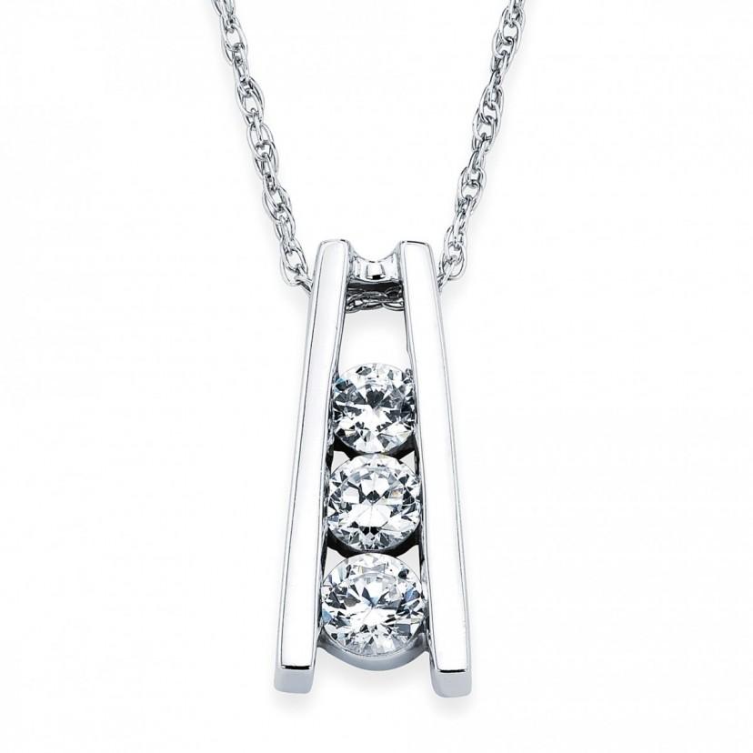 3 stone diamond pendant jewelry diamond jewelry chilson jewelers 3 stone diamond pendant aloadofball Choice Image