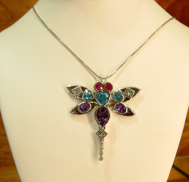 Custom Dragonfly Pendant