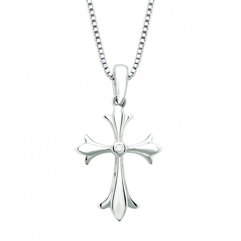 Diva Diamonds Cross Pendant