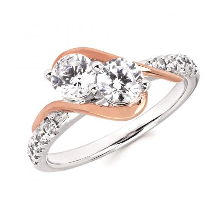 2Us 2 Stone Diamond RIng